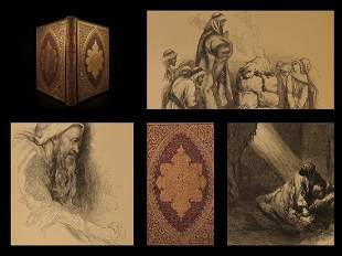1857 BIBLE Book of JOB Illustrated John Gilbert ART