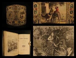 1861 BEAUTIFUL BINDING Old Testament BIBLE Stories