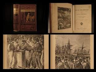 1875 Jules Verne 1ed Adventure Capt Hatteras Voyages