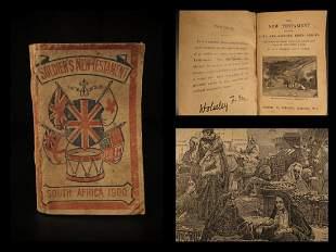 1900 Boer WAR 1ed Soldier's New Testament English BIBLE