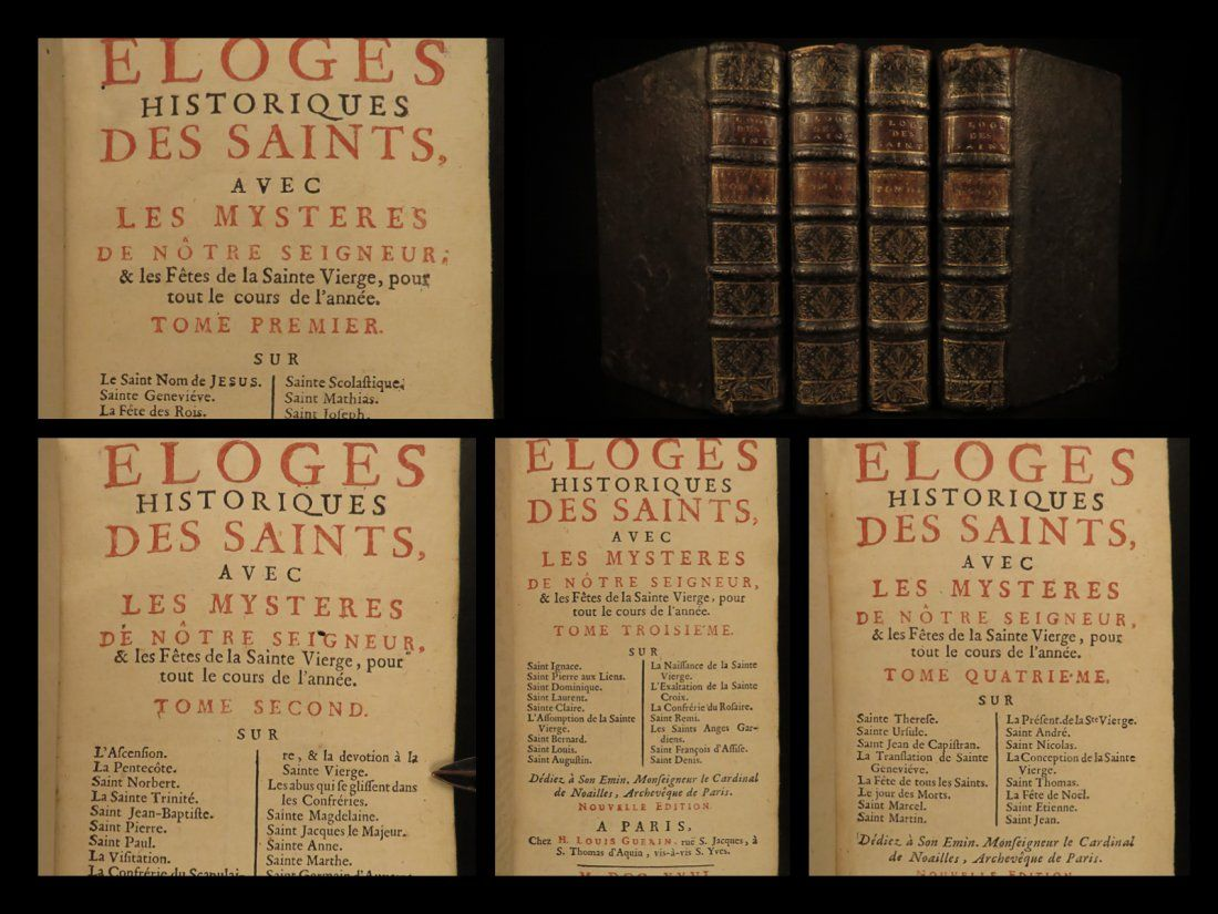 1726 SAINTS Thomas Aquinas St Matthew St Paul Genevieve