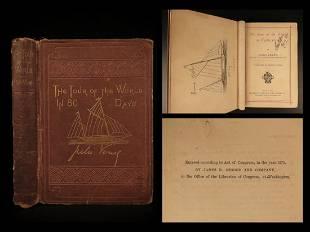 1874 Jules Verne Around the World in 80 Days Adventure