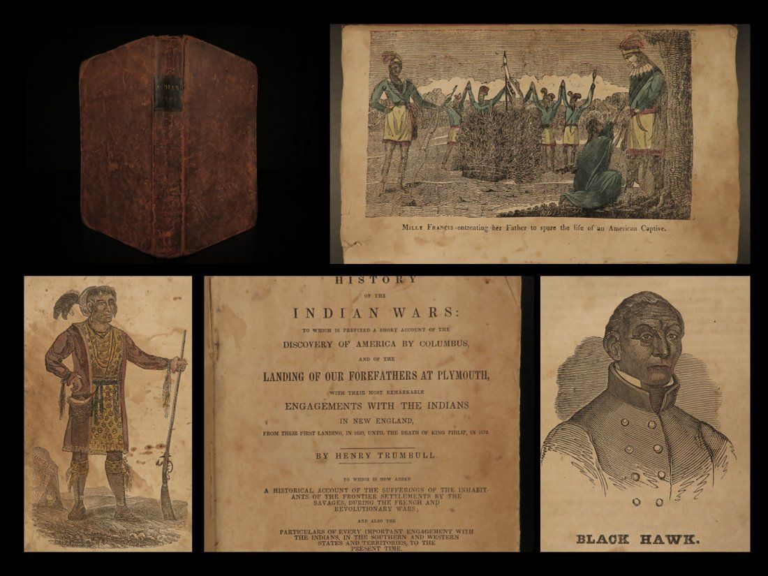 1841 INDIAN Wars King Philip Daniel Boone America