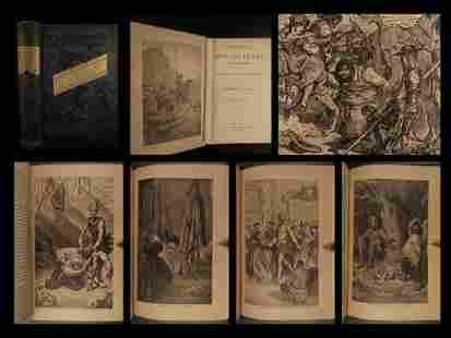1884 Don Quixote de la Mancha Cervantes Jarvis English