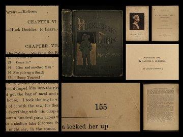 1885 1st ed Huckleberry Finn Adventures Mark Twain
