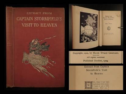 1909 1st ed Mark TWAIN Last Book Captain Stormfield's