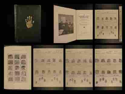 1916 1st ed Fingerprint Instructor Forensic Science