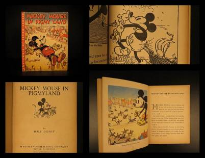 1936 1ed DISNEY Mickey Mouse in Pigmyland Illustrated