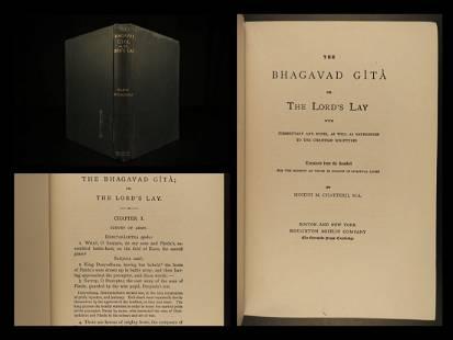 1888 Bhagavad Gita Theosophy INDIA Hindu Pagan Worship