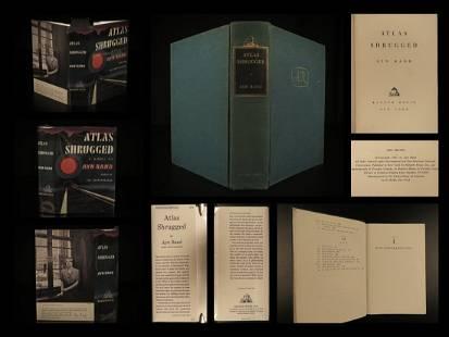 1957 Atlas Shrugged TRUE 1st printing Ayn Rand