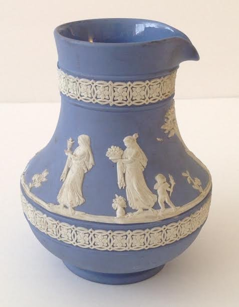 WEDGEWOOD JASPERWARE PITCHER JUG - DATED 1958 - 3