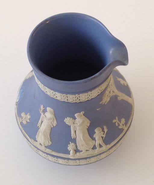 WEDGEWOOD JASPERWARE PITCHER JUG - DATED 1958 - 4
