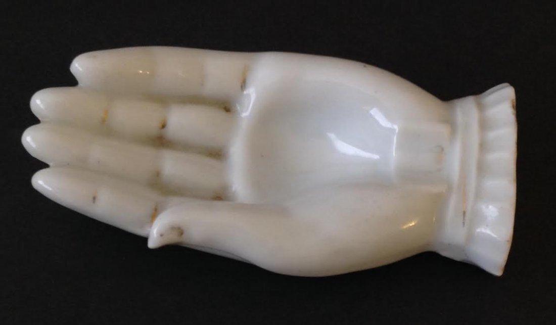 VINTAGE JAPANESE PORCELAIN HAND DISH FIGURINE