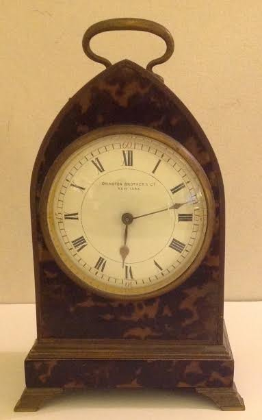 FRENCH CARRIAGE CLOCK, OVINGTON BROTHERS, NEW YORK