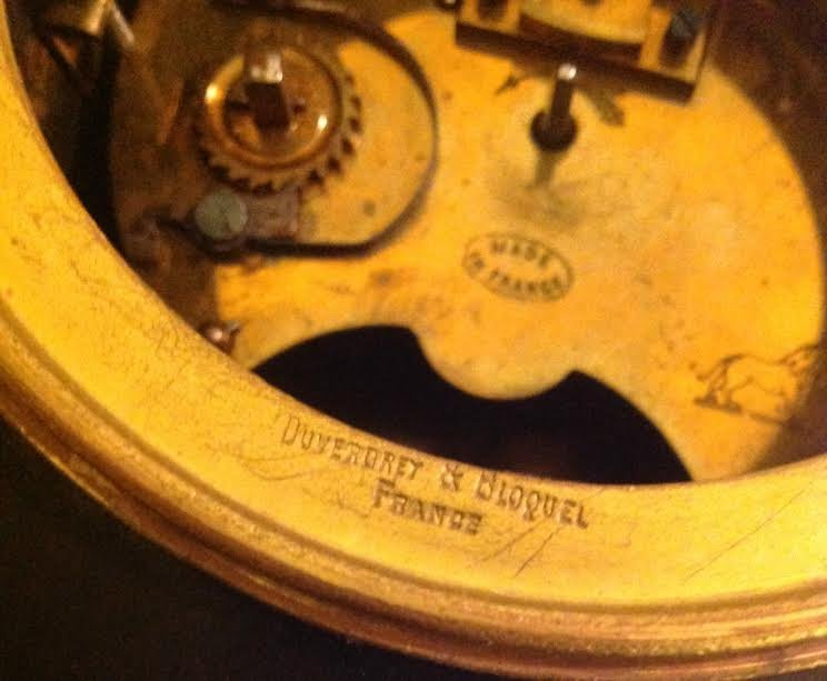 FRENCH CARRIAGE CLOCK, OVINGTON BROTHERS, NEW YORK - 8