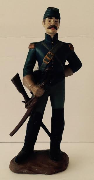 CAVALRY SOLDIER OF THE AMERICAN CIVIL WAR MARKED LT#1