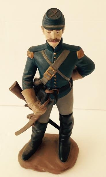 CAVALRY SOLDIER OF THE AMERICAN CIVIL WAR MARKED LT#1 - 2