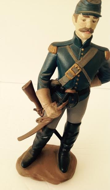 CAVALRY SOLDIER OF THE AMERICAN CIVIL WAR MARKED LT#1 - 3