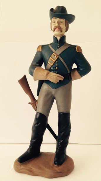 CAVALRY SOLDIER OF THE AMERICAN CIVIL WAR FIGURINE LT2