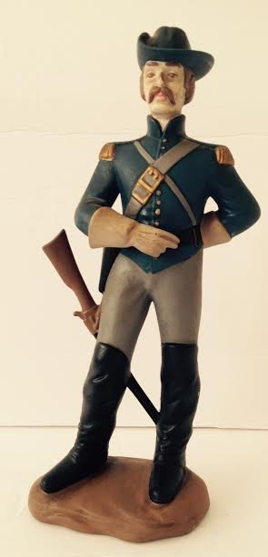 CAVALRY SOLDIER OF THE AMERICAN CIVIL WAR FIGURINE LT2 - 2