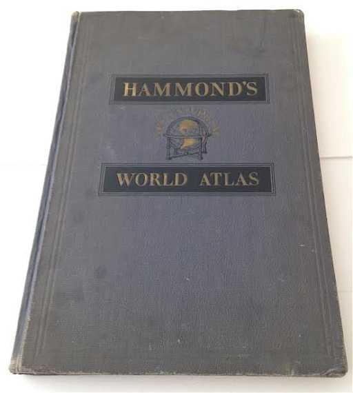 Hammonds New Universal World Atlas Map Hard Cover 1936
