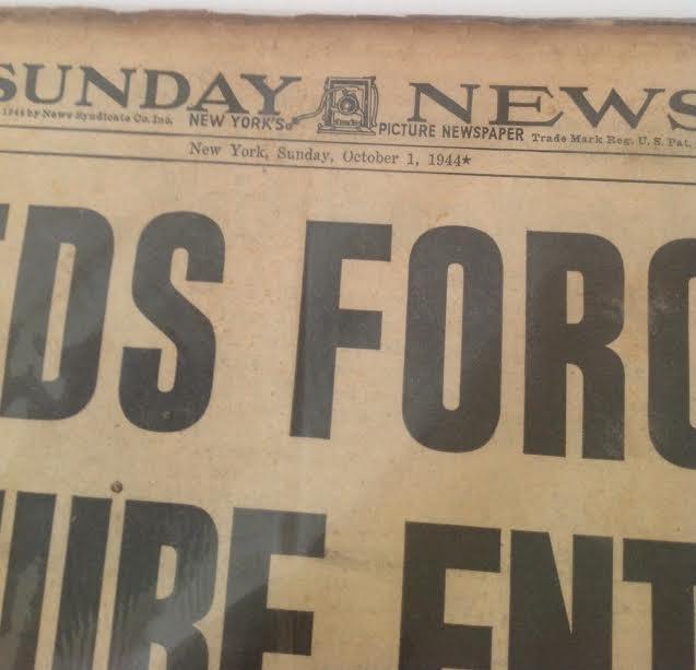 SUNDAY NEWS- SECOND WORLD WAR DANUBE,YUGOSLAVIA 1944 - 2