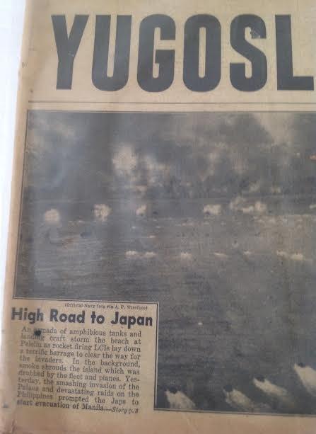 SUNDAY NEWS- SECOND WORLD WAR DANUBE,YUGOSLAVIA 1944 - 3