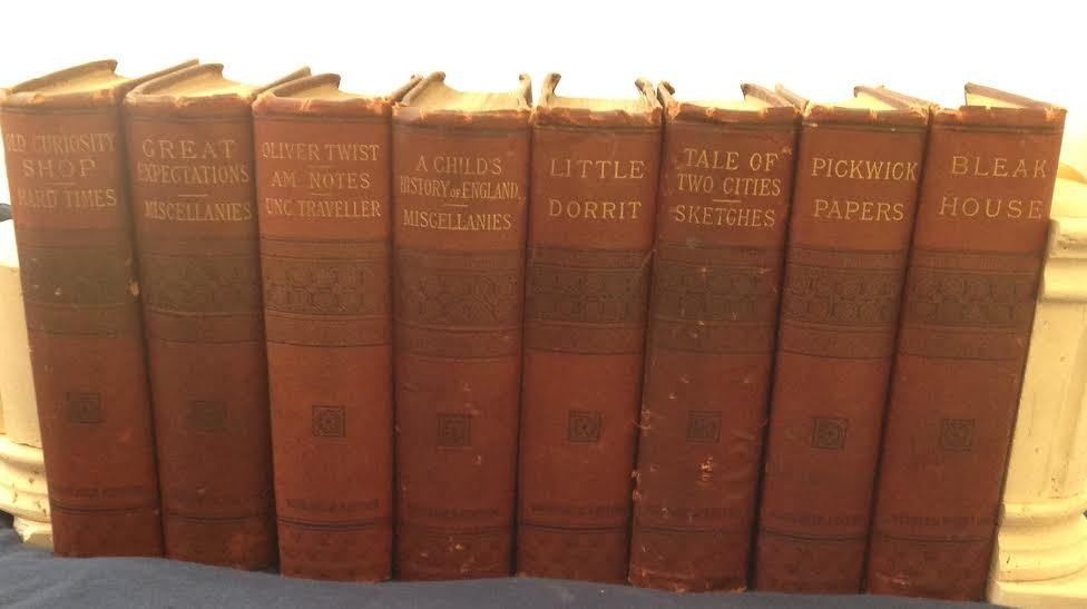 1886 Household Edition CHARLES DICKENS 8 Books