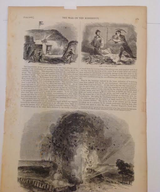 THE WAR ON THE MISSISSIPPI – 1863 PRINT 16 X 11 - 4