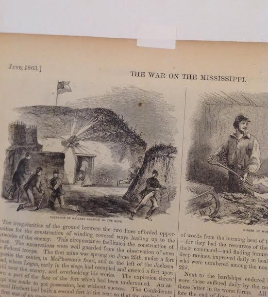 THE WAR ON THE MISSISSIPPI – 1863 PRINT 16 X 11 - 5