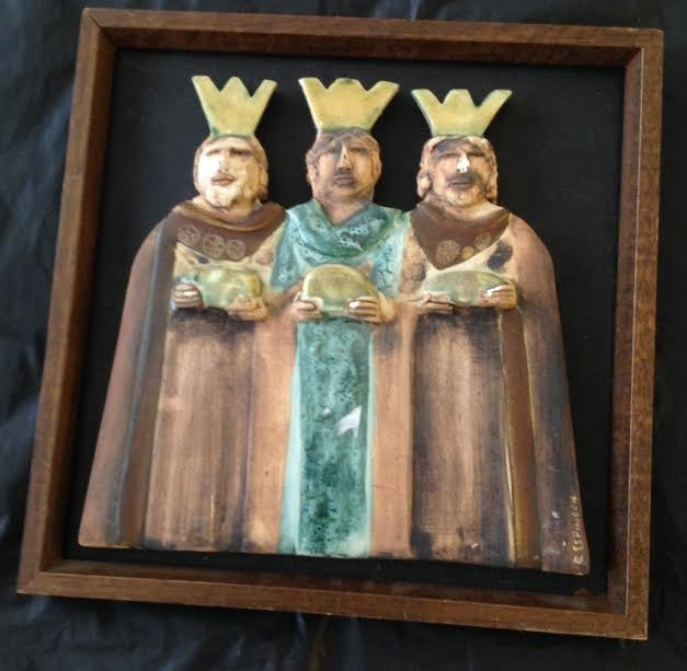 RELIGIOUS ICON IMAGES – THREE WISE MEN 11 X 11 - SIGNED