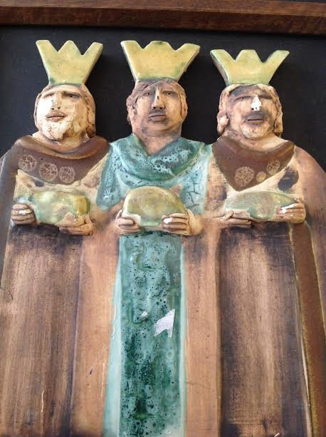 RELIGIOUS ICON IMAGES – THREE WISE MEN 11 X 11 - SIGNED - 2