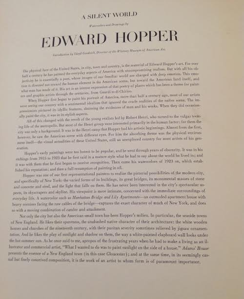 "EDWARD HOPPER (1882-1967) - PRINTS 17"" X 13"" - 7"