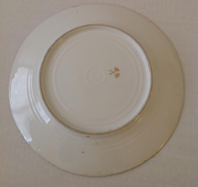 BAVARIA DINNER PLATE W/ ROYAL CROWN STAMP - 3