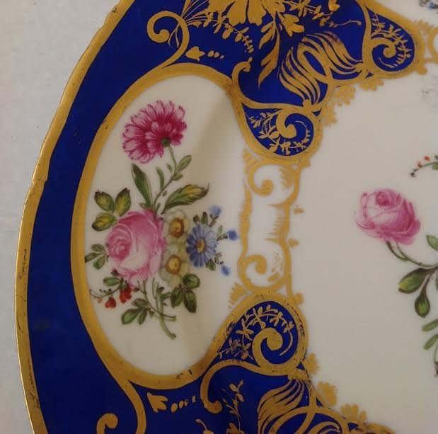 BAVARIA DINNER PLATE W/ ROYAL CROWN STAMP - 5