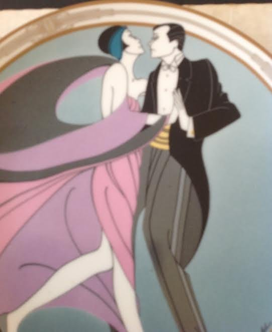 Marci McDonald TANGO DANCERS Plate Signed Numbered - 3