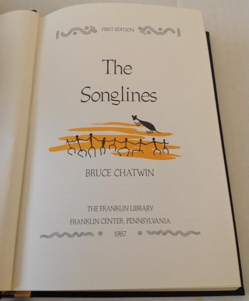 BRUCE CHATWIN -THE SONGLINES1ST EDITION FRANKLIN LIBARY - 3