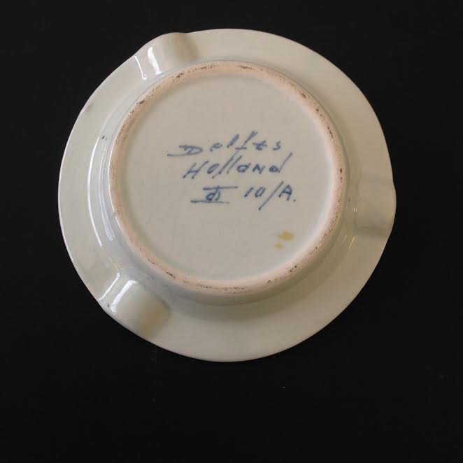 """Vintage Holland Delft Blue Ashtray – Hand painted 4.5"""" - 2"""