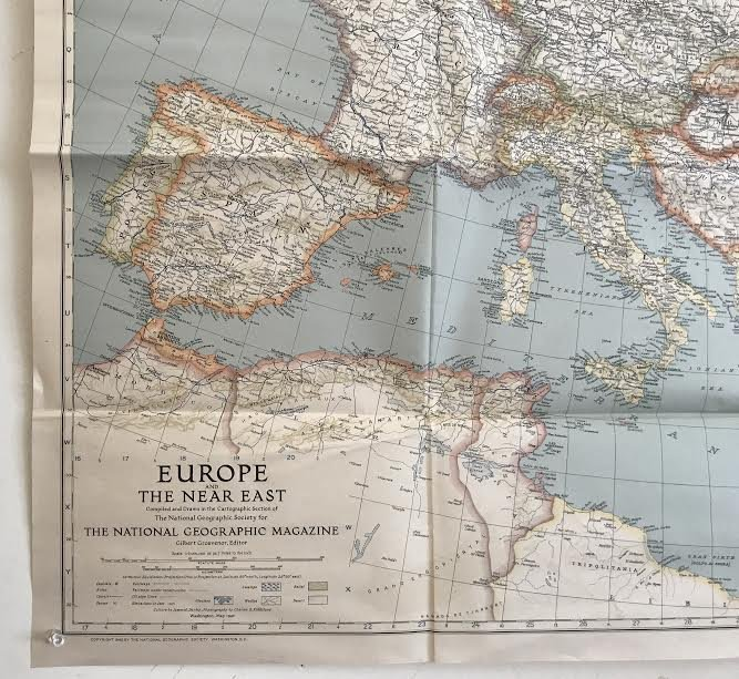 MAP - Europe And The Near East - 33 x 39 – 1940 - 6