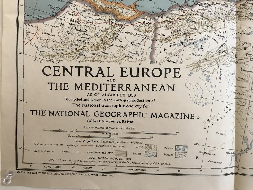 Central Europe The Mediterranean Map 36 x 26 – 1939 - 7