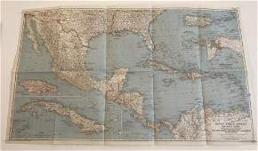 MAP-Mexico, Central America, West Indies 41 X 23 -1939