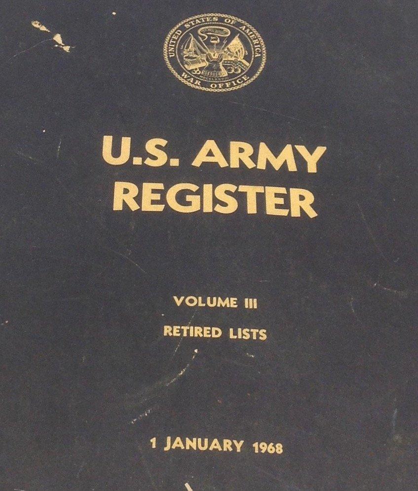 USA War Office Vol 3 Jan 1968