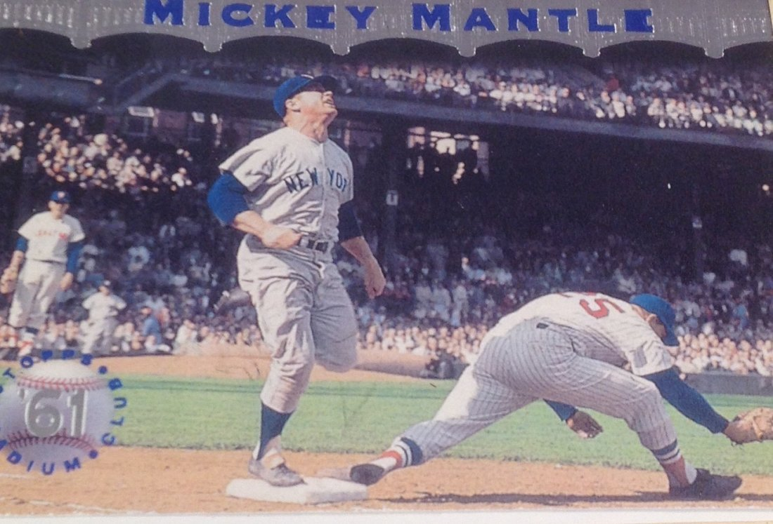1961 Mickey Mantle Topps Stadium Poster