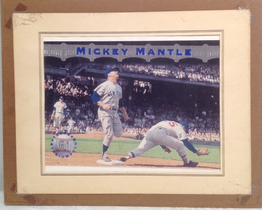 1961 Mickey Mantle Topps Stadium Poster - 3