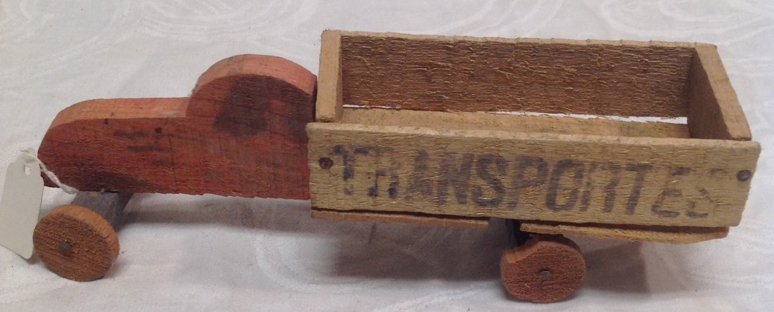 1930's Wood Transporter Toy