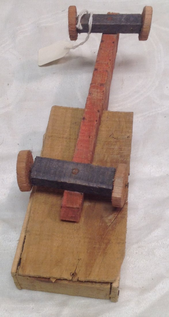 1930's Wood Transporter Toy - 5