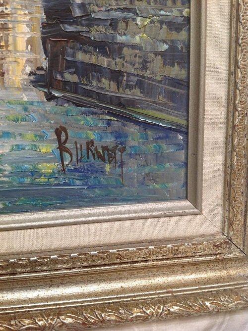 Signed Caroline C Burnett Painting Venice 25 x 21 - 3