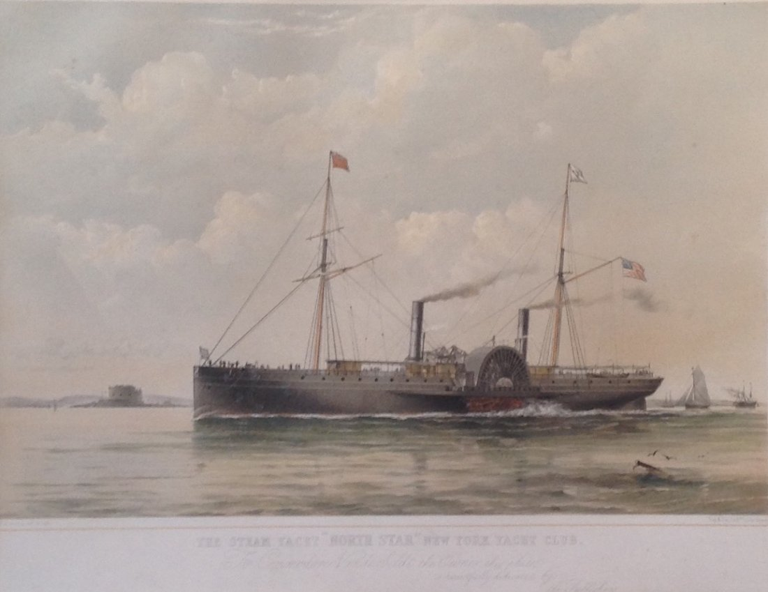 T G Dutton Steam Boat Engraving Illustration