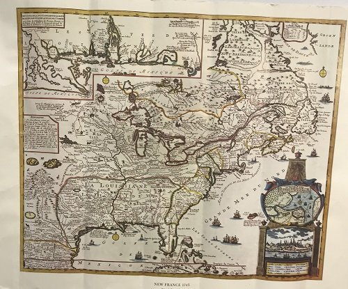 NEW FRANCE 1745 MAP Reiner Ottens