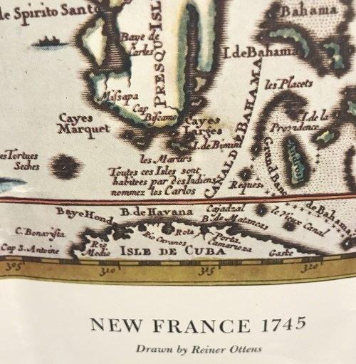 NEW FRANCE 1745 MAP Reiner Ottens - 4
